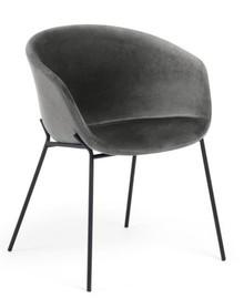 Krzesło kubełkowe DINE - szary
