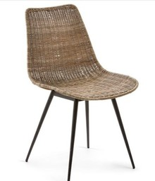 Krzesło ratanowe ALEQU - naturalny/czarny
