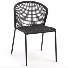 Krzesło ogrodowe HEWMAT - czarny