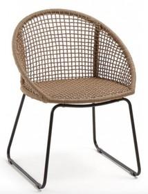 Krzesło ogrodowe na płozach RINESAND - brązowy