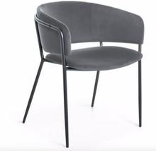 Krzesło z niskim oparciem NIEKON - szary/czarny