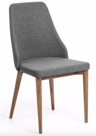 Krzesło tapicerowane XIERO - szary/brązowy