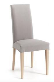 Krzesło z wysokim oparciem IAFRE - jasny szary/naturalny