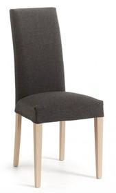 Krzesło z wysokim oparciem IAFRE - ciemny brąz/naturalny