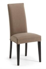 Krzesło z wysokim oparciem IAFRE - brąz/czarny