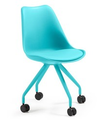 Krzesło na kółkach SLAR - niebieski