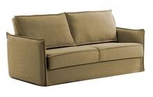 Sofa rozkładana SASAM - brązowy