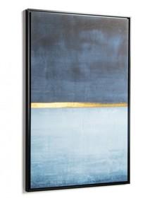 Nowoczesny obraz niebieski leywrig blu