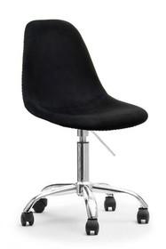Krzesło obrotowe z weluru MPC MOVE TAP - czarny