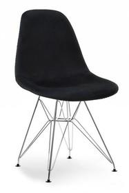 Krzesło MPC ROD TAP - czarny welur/chrom