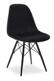 Krzesło MPC WOOD TAP - czarny welur/czarny