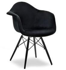 Krzesło kubełkowe MPA WOOD TAP - czarny welur/czarny