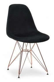 Krzesło MPC ROD TAP - czarny welur/miedź
