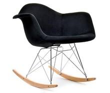 Fotel bujany MPA ROC TAP - czarny welur/buk