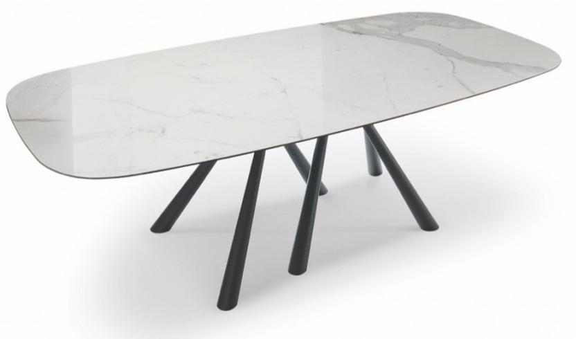 Stół porcelanowy wysuwany TAAT - brązowy