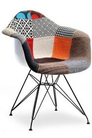 Krzesło tapicerowane MPA ROD TAP - patchwork/czarny