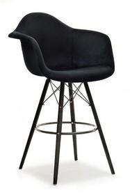 Krzesło barowe EPS WOOD TAP 2 - czarny