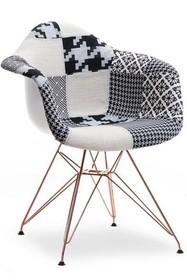 Krzesło tapicerowane MPA ROD TAP - patchwork 2/miedź