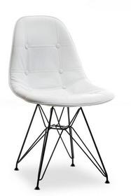 Krzesło MPC ROD TAP - biała ekoskóra/czarny
