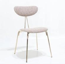Krzesło tapicerowane MILACA - złoty stelaż