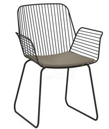 Krzesło metalowe z podłokietnikami DABREN