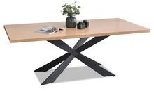 Stół do jadalni RETRO 200x100 - dąb/czarny