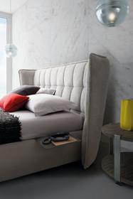 Tapicerowane loftowe łózko aspen do sypialni różne rozmiary
