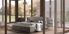 Tapicerowane designerskie I nowoczesne łóżko donovan