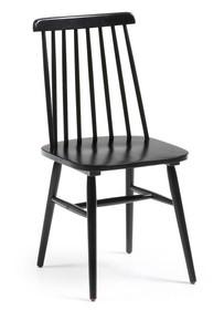 Krzesło drewniane TIEKRIS - czarny