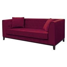 Sofa 3-osobowa LEYA - bordowy
