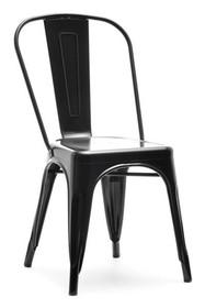 Krzesło industrialne ALFREDO 1 - czarny perłowy