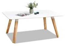 Stół SORBO 160x90 - biały/dąb