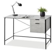 Biurko 2-szufladowe VIGO - beton/czarny
