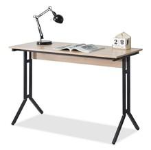 Wąskie biurko AXEL - dąb sonoma/czarny
