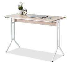 Wąskie biurko AXEL - dąb sonoma/biały
