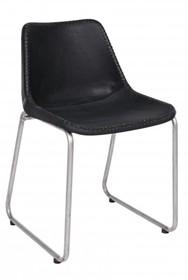 Krzesło skórzane KRUGER - czarny