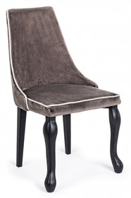Krzesło VITT welur - brązowy