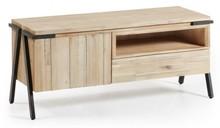 Szafka RTV z 1 szufladą SETDIS - drewno akacjowe