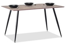 Stół loftowy ONEKA 120x80 - brązowy marmur