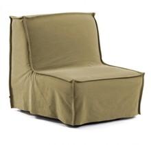 Fotel rozkładany ANNALY - brązowy