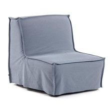 Fotel rozkładany ANNALY - niebieski