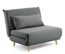 Fotel rozkładany ITAMBO - ciemny szary