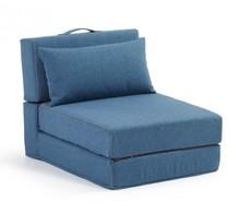 Fotel rozkładany YART - niebieski