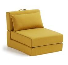 Fotel rozkładany YART - musztardowy