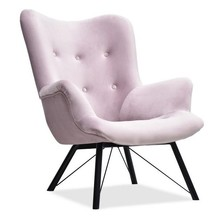Komfortowy Fotel W Angielskim Stylu Gubbo Pudrowy Róż