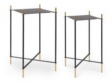 Zestaw 2 kwadratowych stolików ANISHA