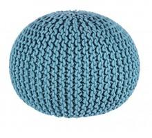 Pufa WEAVE 50 - niebieski