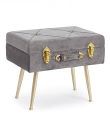 Mała pufa-walizka POLINA - szary