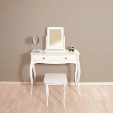 Toaletka z lustrem BAROQUE - biały