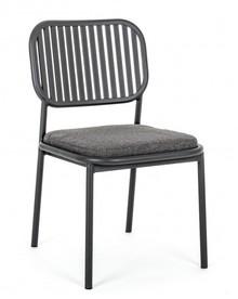 Krzesło ogrodowe RODRIGO - antracyt